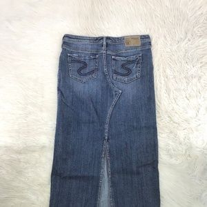Silver Jeans Adele Jean Skirt back Split 29 12-6